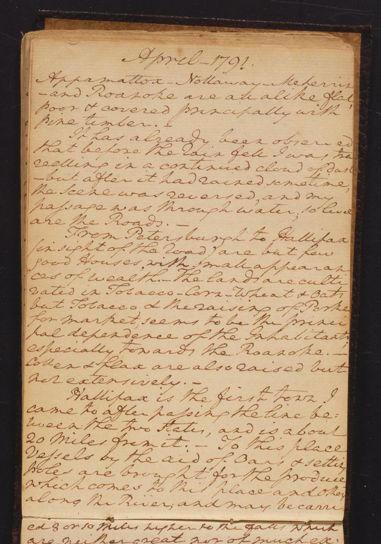 Diary of George Washington, 1790–91 Gift of James K. Marshall through the courtesy of John C. Hamilton
