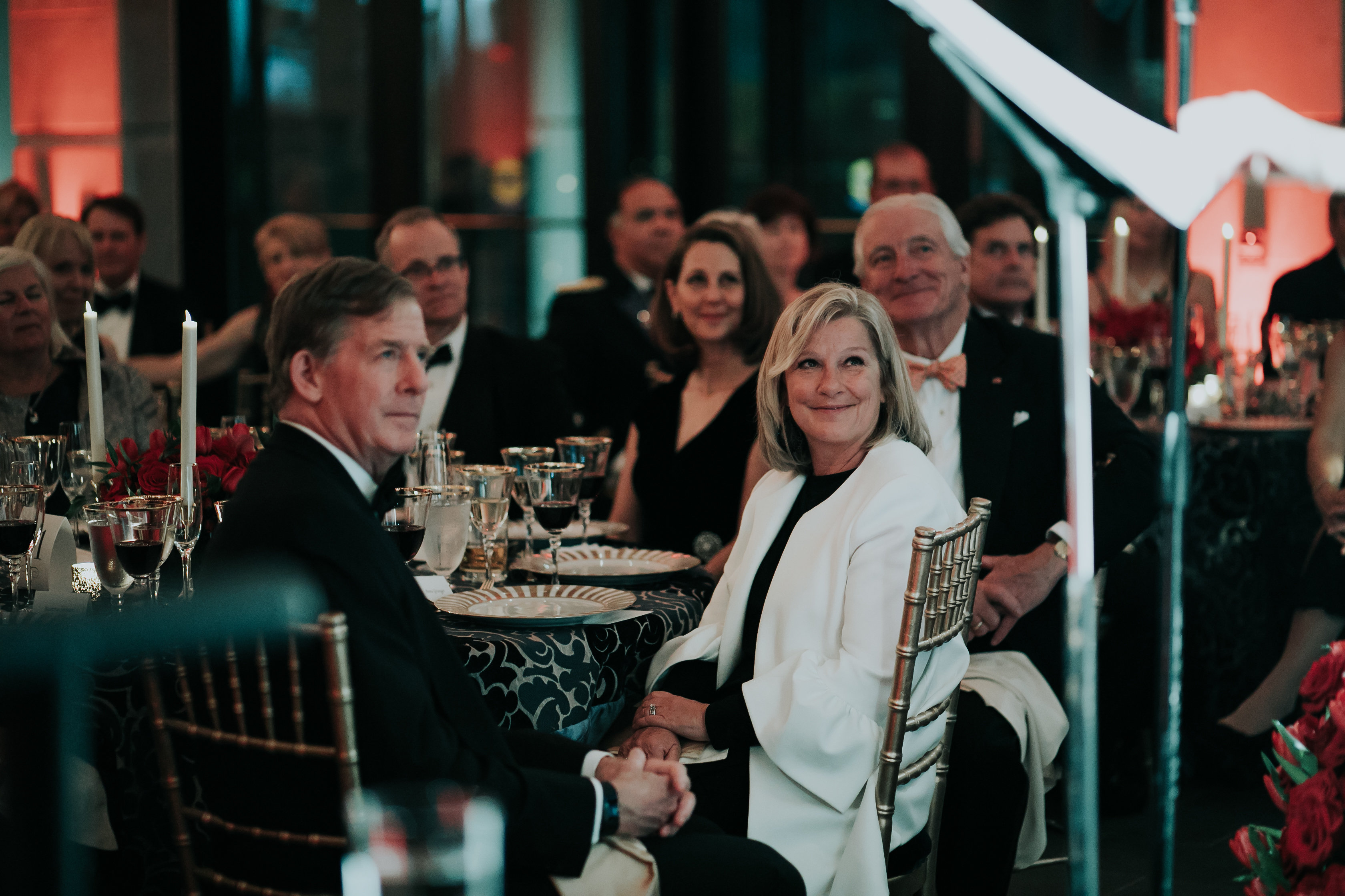 Guests listen to the keynote speaker at the Annual VMHC Gala