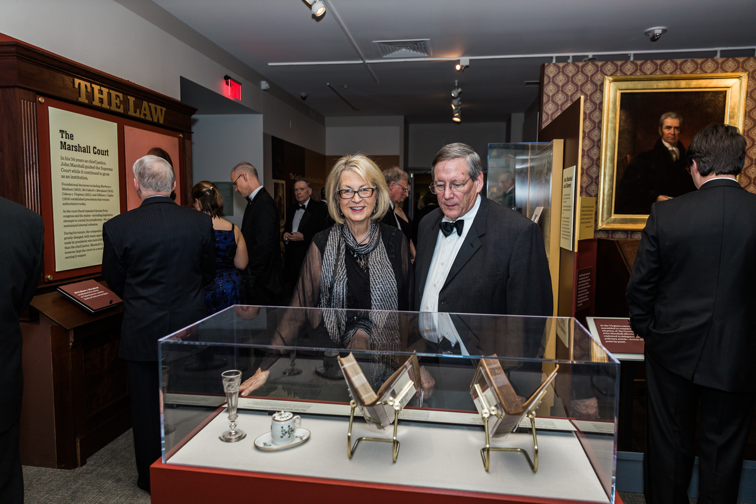 Guests enjoy a preview of the John Marshall Exhibition at the annual VMHC Gala.