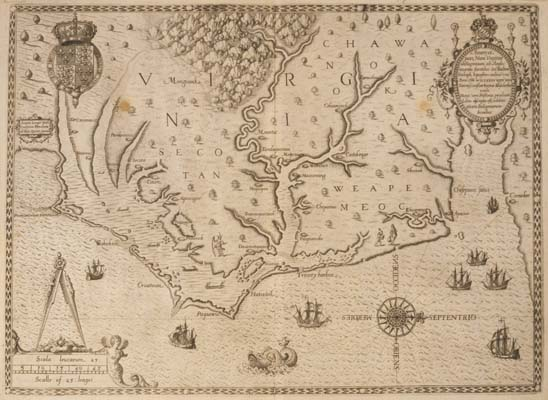 1823 VA MAP PATRICK GLOUCESTER CLARKE NORTHAMPTON COUNTY Virginia History  BIG