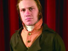 Eben Kuhns of The American Historical Theatre portraying Alexander Hamilton