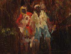 Slave Hunt by Thomas Moran