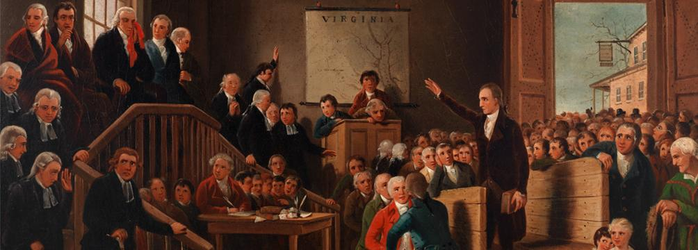 Patrick Henry Arguing Parson's Cause