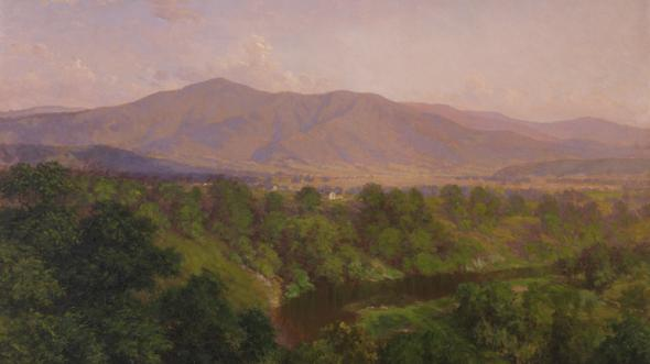 "Blue Ridge Mountains - ""Afternoon, Hawks Bill River, Blue Ridge Mountains"" by John Ross Key, about 1908"