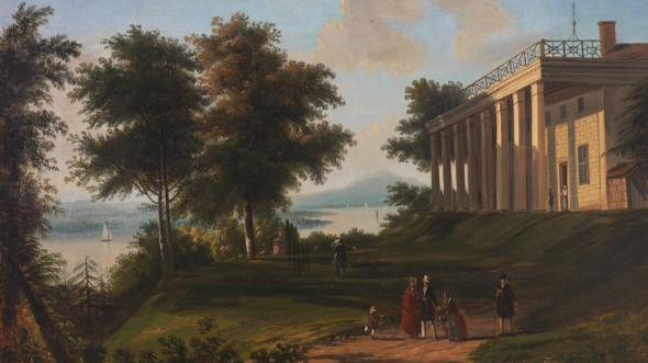 "Coastal Plain (Tidewater) - ""Washington's House — Mount Vernon"" by Victor De Grailly, about 1845"