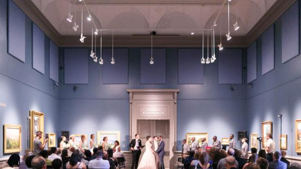 Ceremony in the Olsson Gallery. Image courtesy of Virginia Ashley Photography.