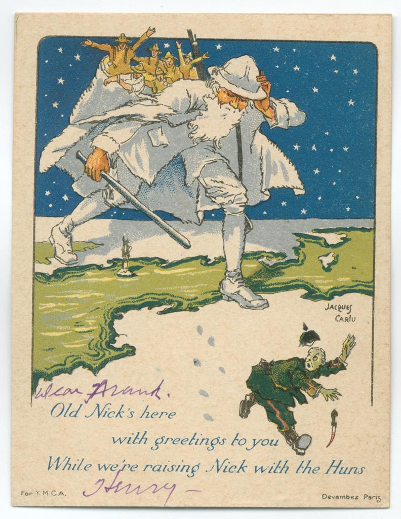 Christmas cards virginia museum of history culture american expeditionary force ymca christmas card enter fullscreen more information kristyandbryce Image collections