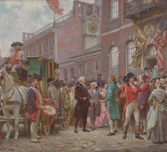 Washington's Inauguration at Independence Hall, 1793