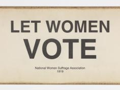 Let Women Vote Sign