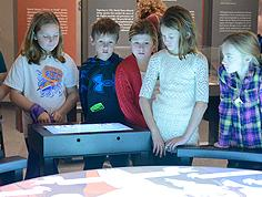 School group in the Story of Virginia gallery