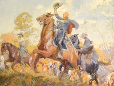 J. E. B. Stuary in the Cavalry (Autumn) Mural