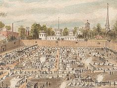 Rebel Prison in Savannah, Ga., 1864