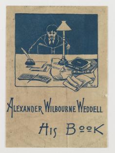 Alexander W. Weddell's bookplate