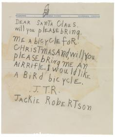 Jackie Robertson's letter to Santa Claus