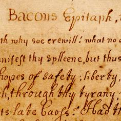 Bacon's Epitaph