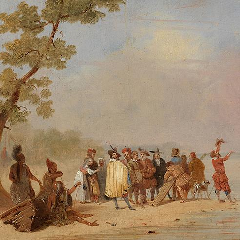 The Relief of Jamestown: Old Times in the New World, 1830s