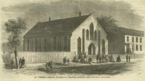 St. Philip's Church in Richmond, a Freedmen's School