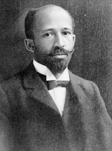 Black and white photograph of W. E. B. Du Bois