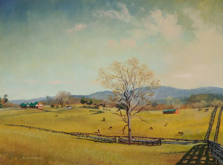 """Painting, """"Long Branch Plantation, Clarke County, Millwood"""" by Andrei Kushnir"""