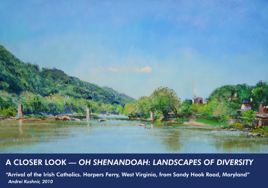 Arrival of the Irish Catholics. Harpers Ferry, West Virginia, from Sandy Hook Road, Maryland painting by Andrei Kushnir
