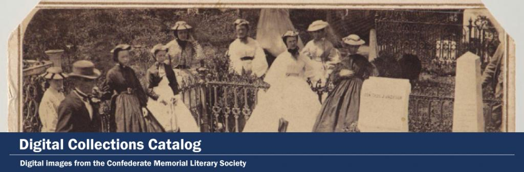 Digital Collections Catalog, Confederate Memorial Literary Society