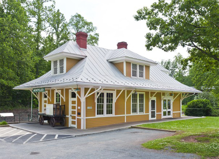 1910 Train Depot at James Madison's Montpelier