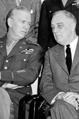 George C. Marshall and Franklin D. Roosevelt