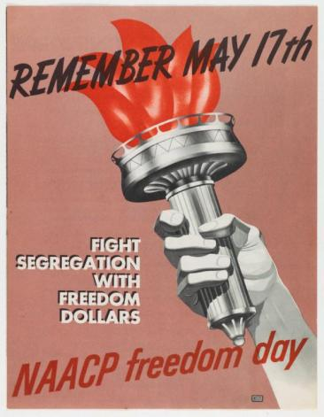 Brochure, 1955 NAACP Freedom Day. (Accession number 2003.234.5)
