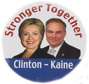 Hilary Clinton 2016 campaign button