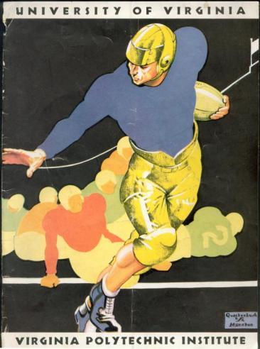 Virginia Tech football program, November 18, 1933