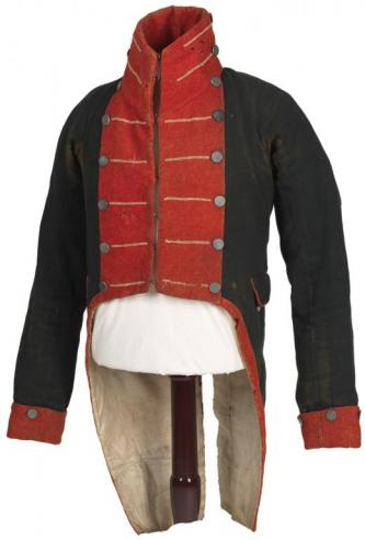 War of 1812 uniform of Capt. Martin Kirtland