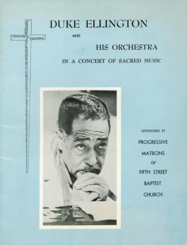 Program, Duke Ellington Sacred Music Concert, Richmond, 1968