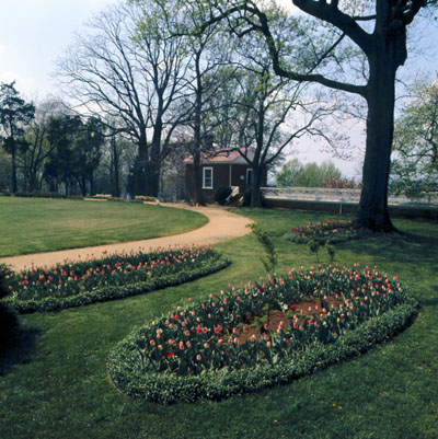 Oval Flower Beds Along The Roundabout That Circles The West Lawn. Slide,  Gardens, Monticello ...