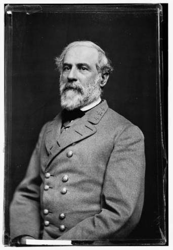 Black and white portrait of Robert E. Lee