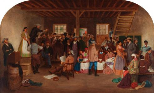 Slave Auction by Lefevre James Cranstone, 1860-63