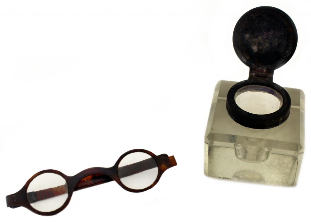Marshall's spectacles and inkwell