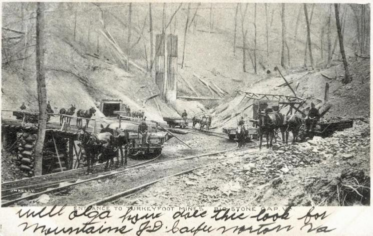 Turkeyfoot mines, Big Stone Gap, c. 1906