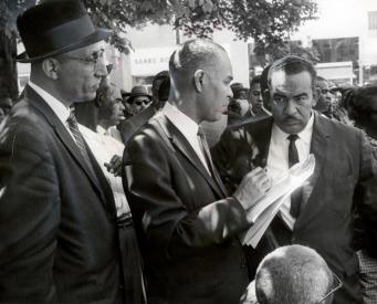 Oliver Hill, Roy Wilkins, and Reverend Francis L. Griffin