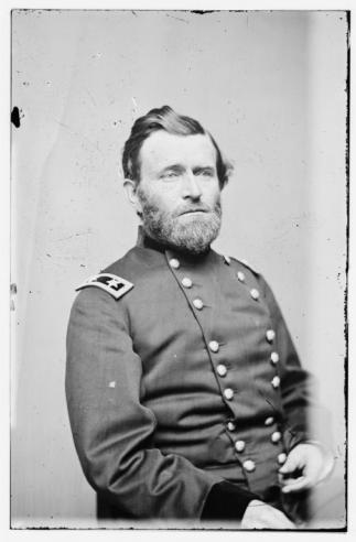 Black and white photograph of Ulysses S. Grant in uniform
