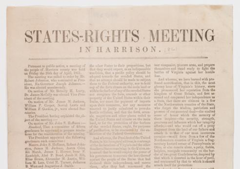 States-Rights Meeting in Harrison [County], April 1861