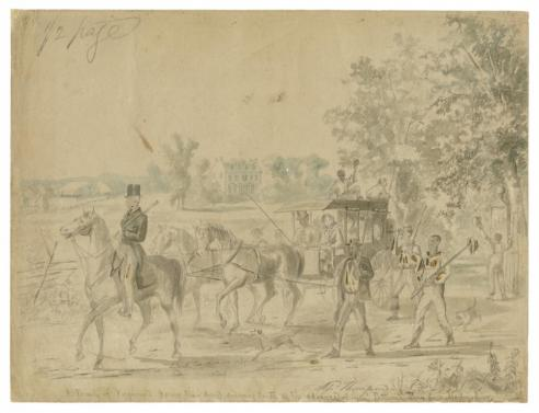 A Family of Virginians Leaving their Home and Going South on the Advance of Genl. Patterson's Army from Martinsburg, Alfred Wordsworth Thompson, 1861