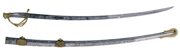 Sword and Scabbard, Ames Manufacturing Company, 1848, presented to George Henry Thomas