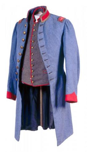Vest and frock coat belonging to Charles Ellis Munford, c. 1862