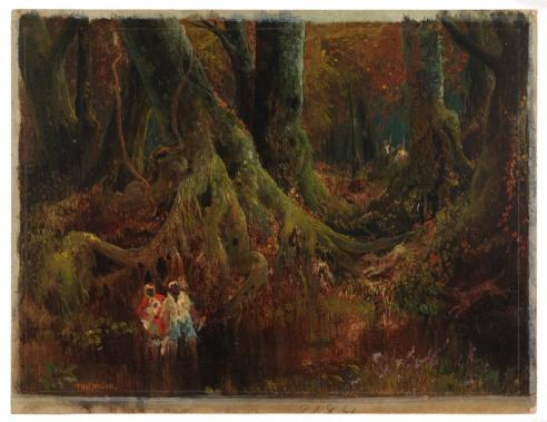The Slave Hunt [Dismal Swamp, Virginia], Thomas Moran, 1864