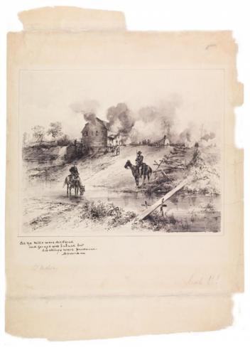 Union Troops Burning Out the Shenandoah Valley, Theodore R. Davis, 1864