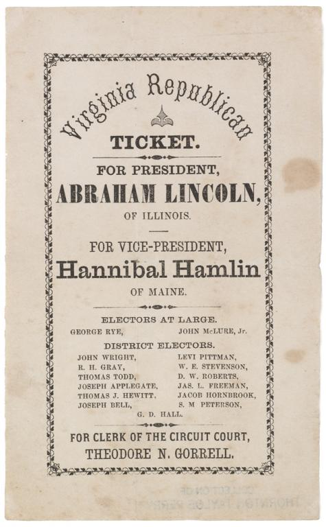 An american turning point the civil war in virginia virginia view fullscreenrepublican party election ticket 1860 vhs accession number 200220464more information publicscrutiny Gallery