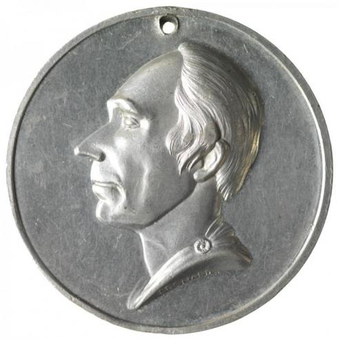 A medalet from the Henry Clay campaign