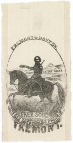 A campaign ribbon for John C. Fremont, the Republican Party candidate