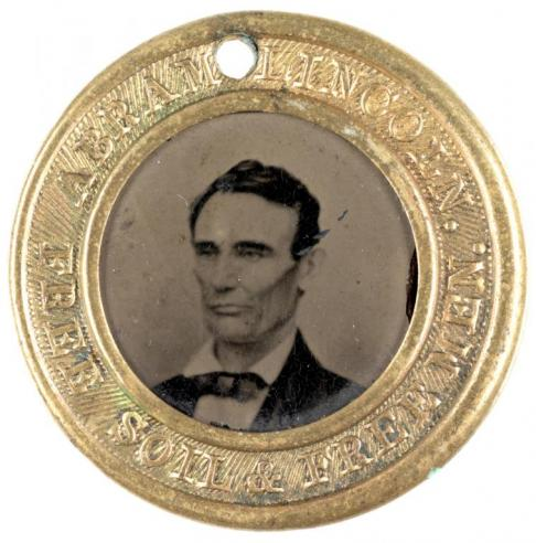 "A ferrotype of ""Abram"" Lincoln"