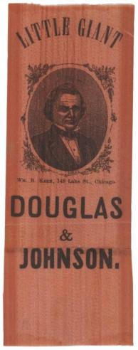 A Stephen A. Douglas campaign ribbon